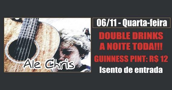 Republic Pub recebe o cantor Ale Chris para animar a noite de quarta-feira Eventos BaresSP 570x300 imagem