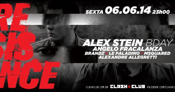 Acontece na Clash Club a festa Resistance com Line Up de Alex Stein e Convidados Eventos BaresSP 570x300 imagem