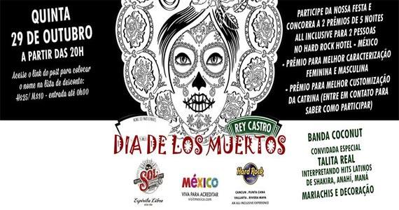 Rey Castro realiza Festa do Dia de Los Muertos com muitas atrações no Halloween Eventos BaresSP 570x300 imagem