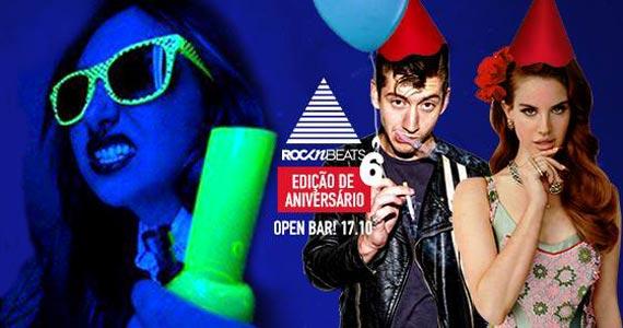 Festa Rocknbeats edição de aniversário de 6 anos com open bar no Beco 203 Eventos BaresSP 570x300 imagem
