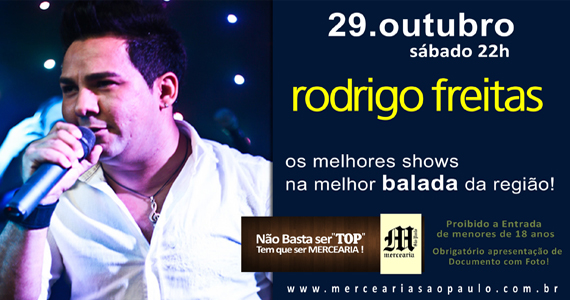 Rodrigo Freitas se apresenta na Mercearia São Paulo Eventos BaresSP 570x300 imagem