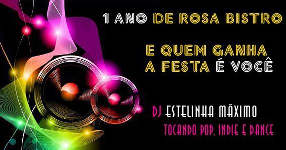 Aniversário do Rosa Bistro tem festa com DJ Stelinha Maximo nesta sexta-feira Eventos BaresSP 570x300 imagem