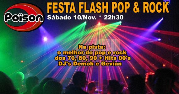 Flash back e animação na noite de sábado do Poïson Bar e Balada Eventos BaresSP 570x300 imagem
