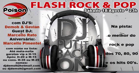 Festa Flash Rock & Pop no sábado do Poïson Bar e Balada Eventos BaresSP 570x300 imagem