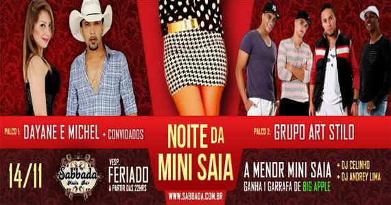 Noite da Mini Saia com muito Pagonejo nesta véspera de feriado no Sabbada Music Bar Eventos BaresSP 570x300 imagem
