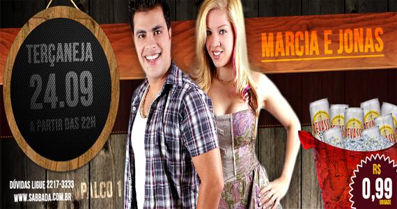 Terçaneja agita a noite com a dupla sertaneja Marcia e Jonas no Sabbada Music Bar Eventos BaresSP 570x300 imagem