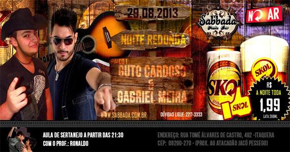 Noite Redonda com show de Guto Cardoso e Gabriel Meira para agitar o Sabbada Eventos BaresSP 570x300 imagem