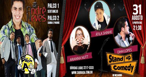 Pagonejo e Stand Up Comedy agitam o sábado no Sabbada Music Bar Eventos BaresSP 570x300 imagem