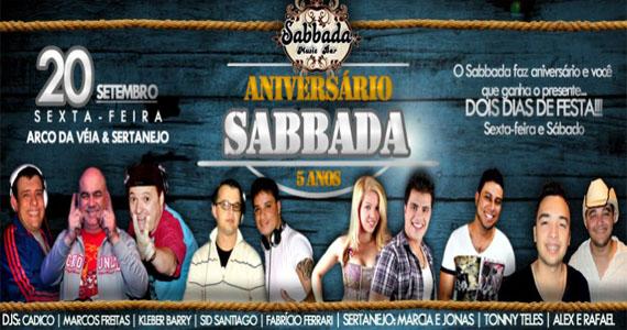 Sabbada prepara mega evento para comemorar seu aniversário de 5 anos Eventos BaresSP 570x300 imagem