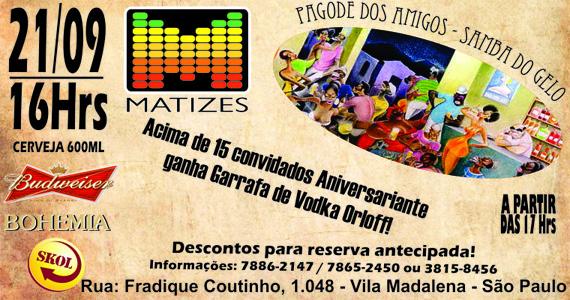 Pagode dos amigos, Samba do Gelo anima a tarde de sábado do Matizes Bar Eventos BaresSP 570x300 imagem