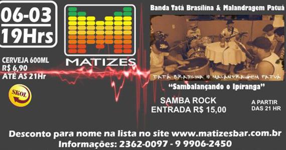 Os agitos do samba rock no palco do Matizes Bar  Eventos BaresSP 570x300 imagem