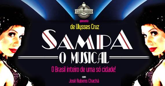 O espetáculo Sampa, O Musical de Ulysses Cruz no Terra da Garoa Eventos BaresSP 570x300 imagem