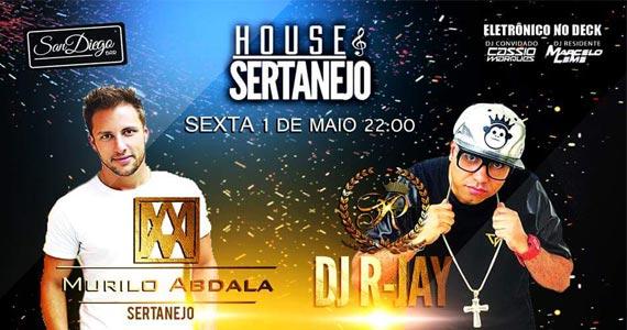 Murilo Abdala e DJ R-Jay animam a Festa House Sertanejo do San Diego Bar Eventos BaresSP 570x300 imagem