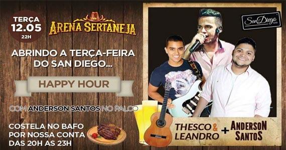 Arena sertaneja apresenta Thesco & Leandro e convidados agitando o San Diego Bar Eventos BaresSP 570x300 imagem