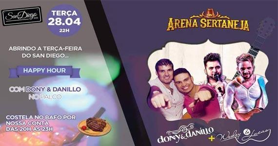 Arena Sertaneja apresenta show de Dony & Danillo e convidados no San Diego Bar Eventos BaresSP 570x300 imagem