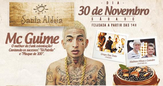 Santa Aldeia recebe o funkeiro Mc Guimê para agitar o sábado com feijoada Eventos BaresSP 570x300 imagem