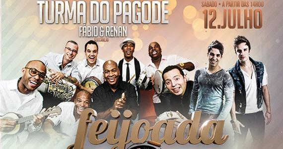 Feijoada com Turma do Pagode e Fábio & Renan neste sábado no Santa Aldeia  Eventos BaresSP 570x300 imagem