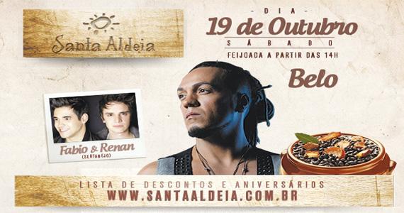 Feijoada com o cantor Belo e dupla sertaneja animam a tarde de sábado do Santa Aldeia Eventos BaresSP 570x300 imagem