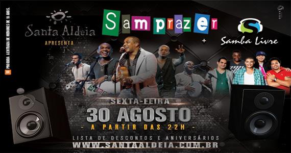 Grupo de pagode Samprazer se apresenta nesta sexta-feira no Santa Aldeia Eventos BaresSP 570x300 imagem