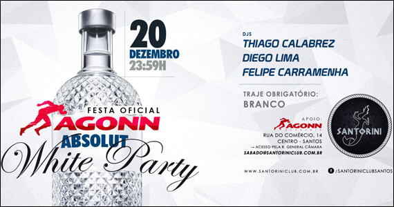 Festa White Party com Thiago Calabrez e convidados no Santorini Club Eventos BaresSP 570x300 imagem
