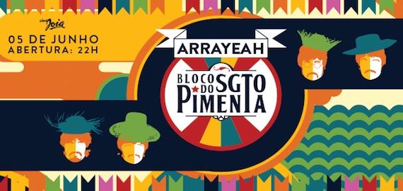 Bloco do Sargento Pimenta comanda o clima junino do ArraYeah do Cine Joia Eventos BaresSP 570x300 imagem