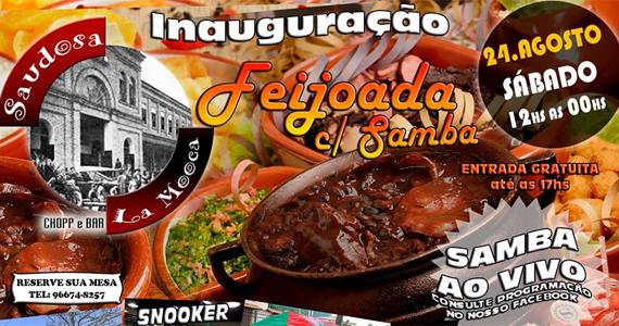 Inauguração do Saudosa La Mooca tem feijoada e samba ao vivo neste sábado Eventos BaresSP 570x300 imagem