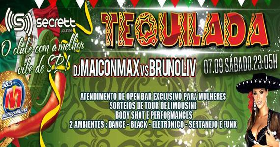 Festa Tequilada agita a noite com DJs convidados na Secrett Lounge neste feriado Eventos BaresSP 570x300 imagem