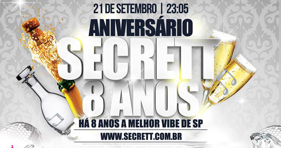 Secrett Lounge comemora 8 anos neste sábado com festa open bar e mágico internacional Eventos BaresSP 570x300 imagem