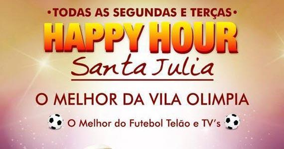 Segunda e terça tem Happy Hour no Bar Santa Júlia Eventos BaresSP 570x300 imagem