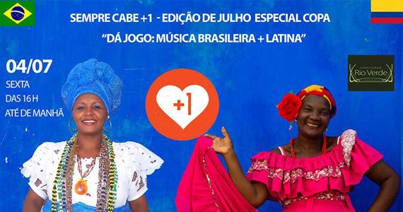 Festa Sempre Cabe+1 com transmissão do jogo no Centro Cultural Rio Verde Eventos BaresSP 570x300 imagem