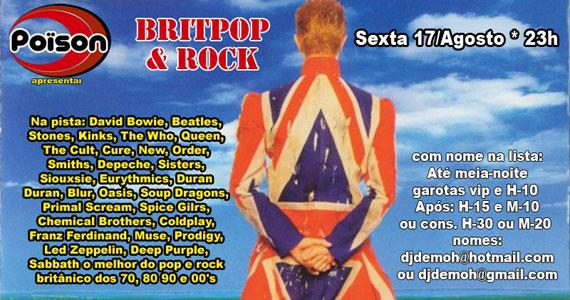 Festa Britpop & Rock na sexta-feira de inverno do Poïson Bar e Balada Eventos BaresSP 570x300 imagem
