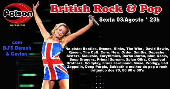 Festa British Rock & Pop no inverno do Poïson Bar e Balada Eventos BaresSP 570x300 imagem
