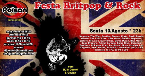 Festa Britpop e Rock no Poïson Bar e Balada neste Inverno Eventos BaresSP 570x300 imagem