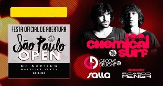 Sirena apresenta Djs Chemical Surf e convidados no São Paulo Open of Surfing Eventos BaresSP 570x300 imagem