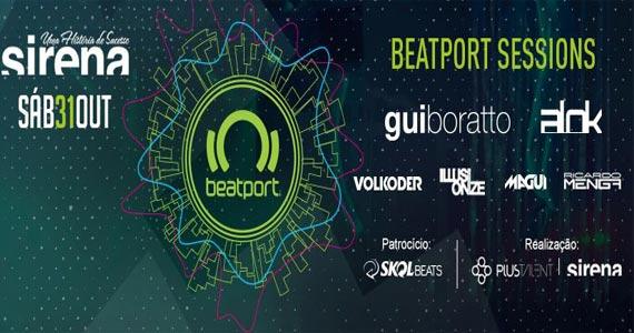 Sirena apresenta a Festa Beatport ao som dos Djs Gui Boratto, Alok e convidados Eventos BaresSP 570x300 imagem