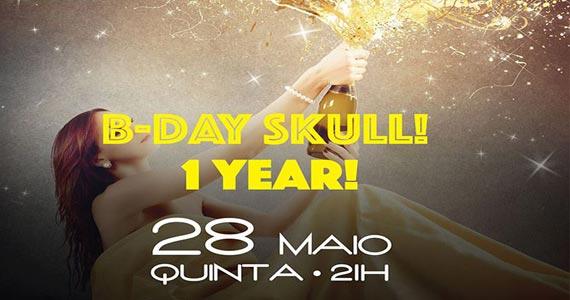 Skull Bar comemora 1 ano com muita música e diversas atrações Eventos BaresSP 570x300 imagem