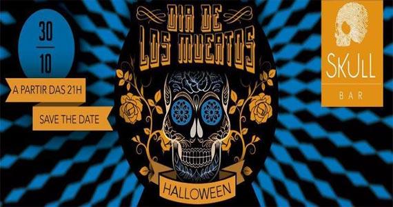 Skull Bar realiza a Festa de Halloween com tema Dia de Los Muertos na sexta Eventos BaresSP 570x300 imagem