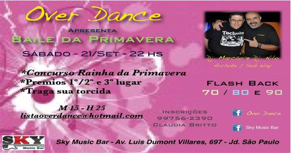 Baile de Primavera Over Dance anima o sábado do Sky Music Bar Eventos BaresSP 570x300 imagem