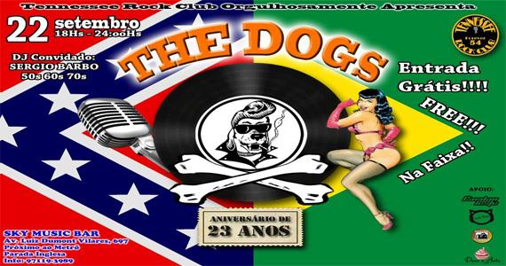 Festa The Dogs - Tennessee Rock Club no Sky Music Bar no domingo Eventos BaresSP 570x300 imagem