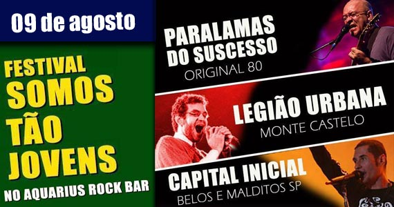 Festival Somos Tão Jovens com bandas Monte Castelo, Original 80 e Belos e Malditos SP Eventos BaresSP 570x300 imagem