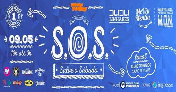 Festa S.O.S- Salve o Sábado agita a galera do Clube Pinheiros Eventos BaresSP 570x300 imagem