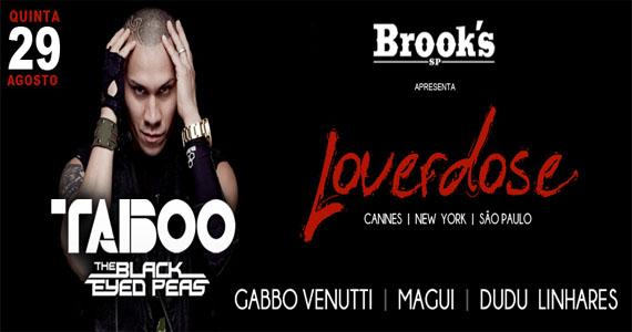 Brook's apresenta rapper Taboo, integrante do Black Eyed Peas, na noite Loverdose Eventos BaresSP 570x300 imagem