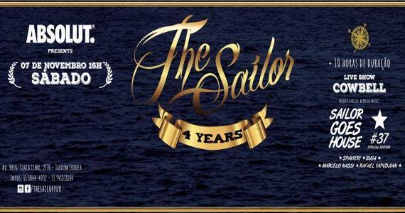 The Sailor comemora o aniversário de 4 anos com show da Banda Cowbell e convidados Eventos BaresSP 570x300 imagem