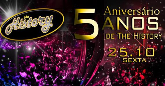 The History celebra 5 anos com festa especial nesta sexta-feira  Eventos BaresSP 570x300 imagem