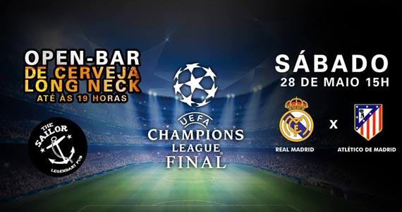 The Sailor transmite a final Uefa Champions League com open bar  Eventos BaresSP 570x300 imagem