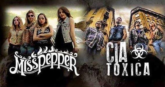 Shows com as bandas Miss Pepper e Cia Tóxica são atrações do The Wall Café na sexta-feira Eventos BaresSP 570x300 imagem