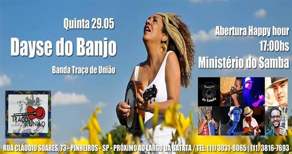 Deyse do Banjo e Convidados na balada Traço de União nesta quinta-feira Eventos BaresSP 570x300 imagem