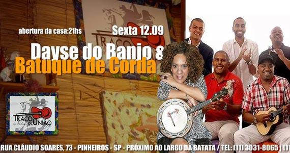 Dayse do Banjo e Batuque de Corda se apresentam no Traço de União Eventos BaresSP 570x300 imagem