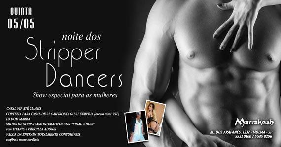 Noite dos Stripper Dancers com show para as mulheres e DJ Dom Marra no Marrakesh Club Eventos BaresSP 570x300 imagem
