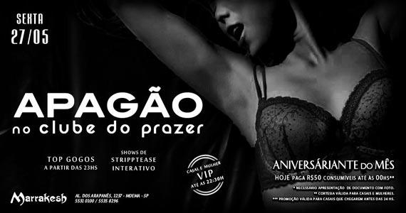Apagão no Clube do Prazer com striptease no Marrakesh Club Eventos BaresSP 570x300 imagem